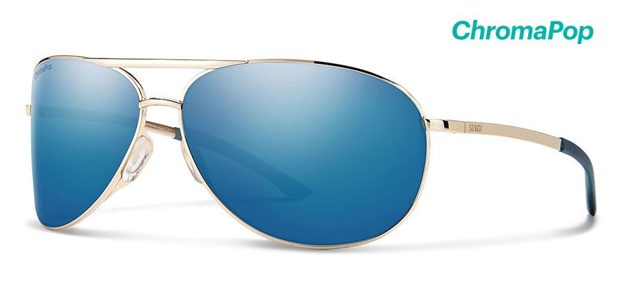 GoldChromaPop Polarized Blue Mirror