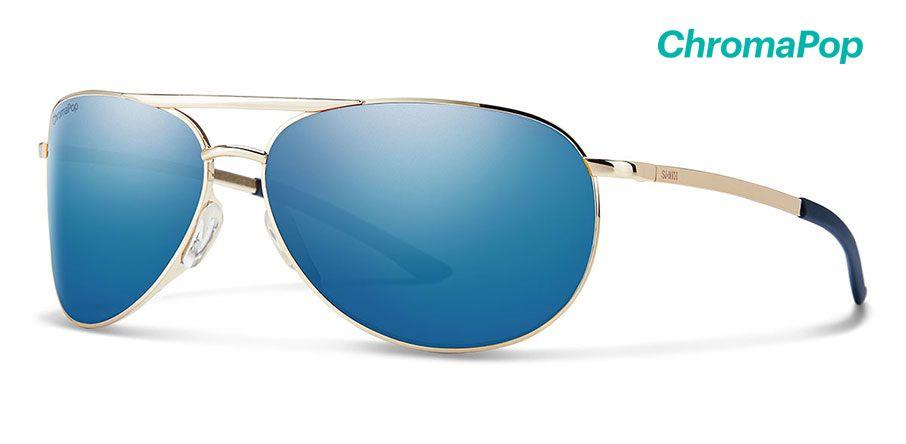 GoldChromaPop Polarized Blue Mirror